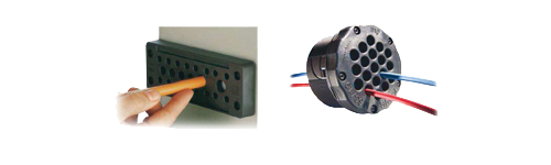 Plaques passe-câbles en plastique (rectangulaires et rondes)