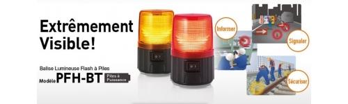 Feu Flash LED Autonome sur Piles - Série PFH-BT