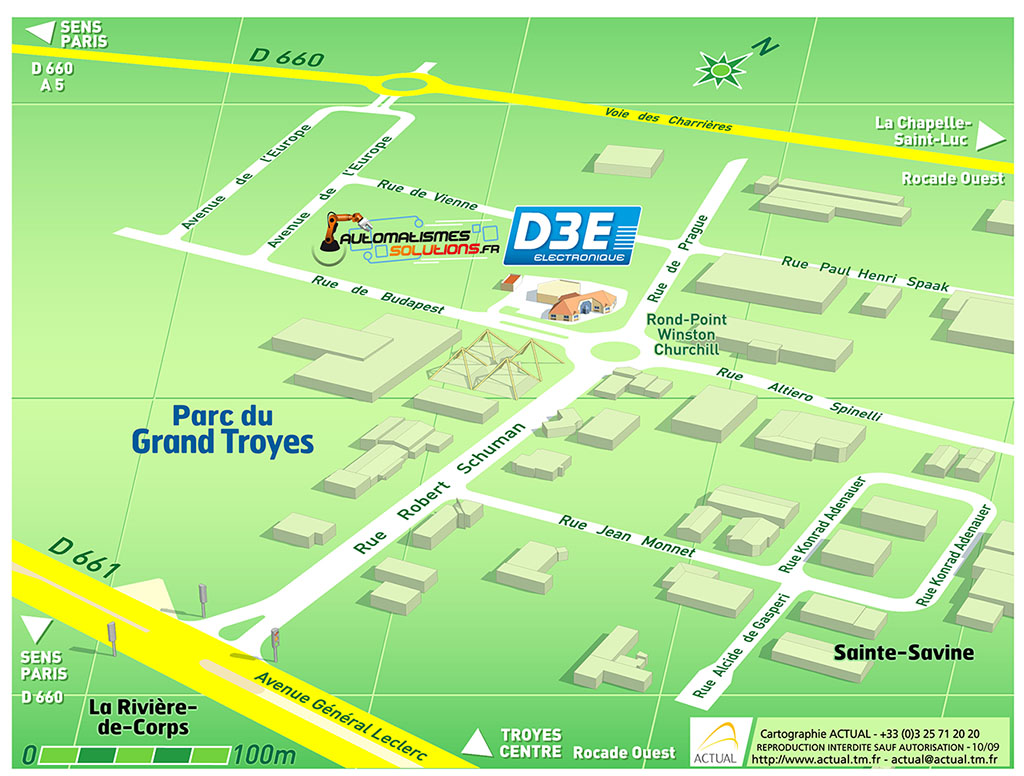 Automatismes Solutions - Parc du Grand Troyes - Plan de situation
